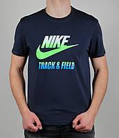 Футболка мужская Nike Track&Field  1598 Тёмно-серая
