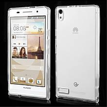 Чехол накладка силиконовый TPU Remax 0.2 мм для Huawei P6 прозрачный