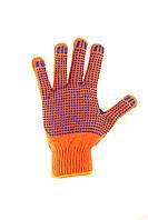 Рабочие перчатки трикотажные с ПВХ нанесением для механических легких работ