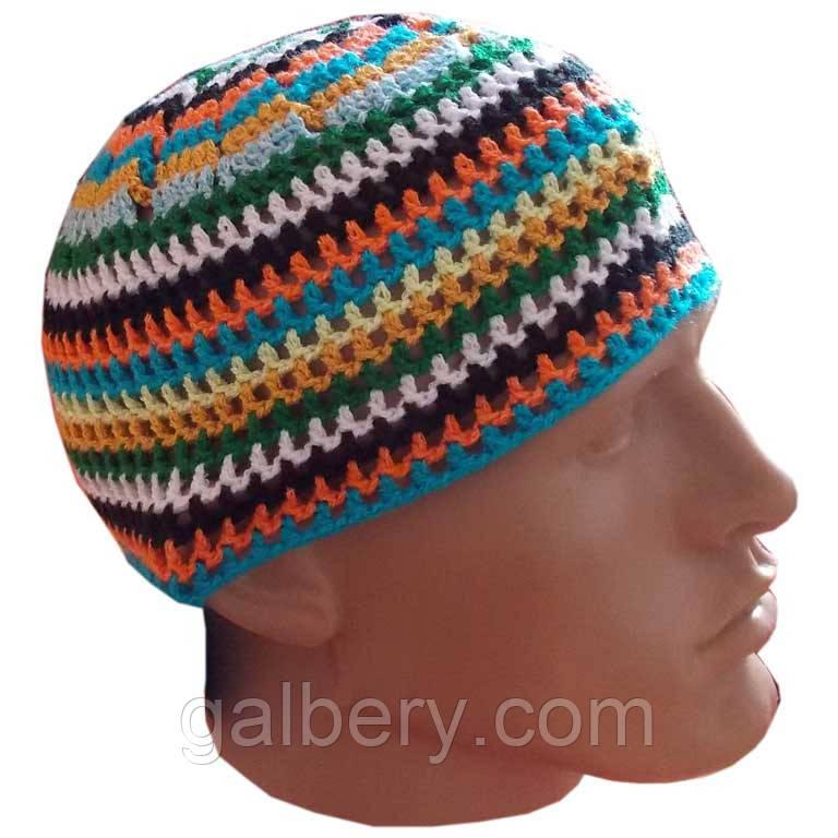 мужская вязаная шапка от солнца ручной работы цена 170 грн