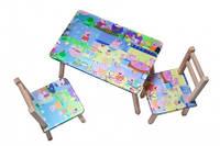 Столик + 2 стульчика СВИНКА ПЕПА