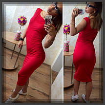 Силуэтное платье с чуть спущенными плечами, фото 2