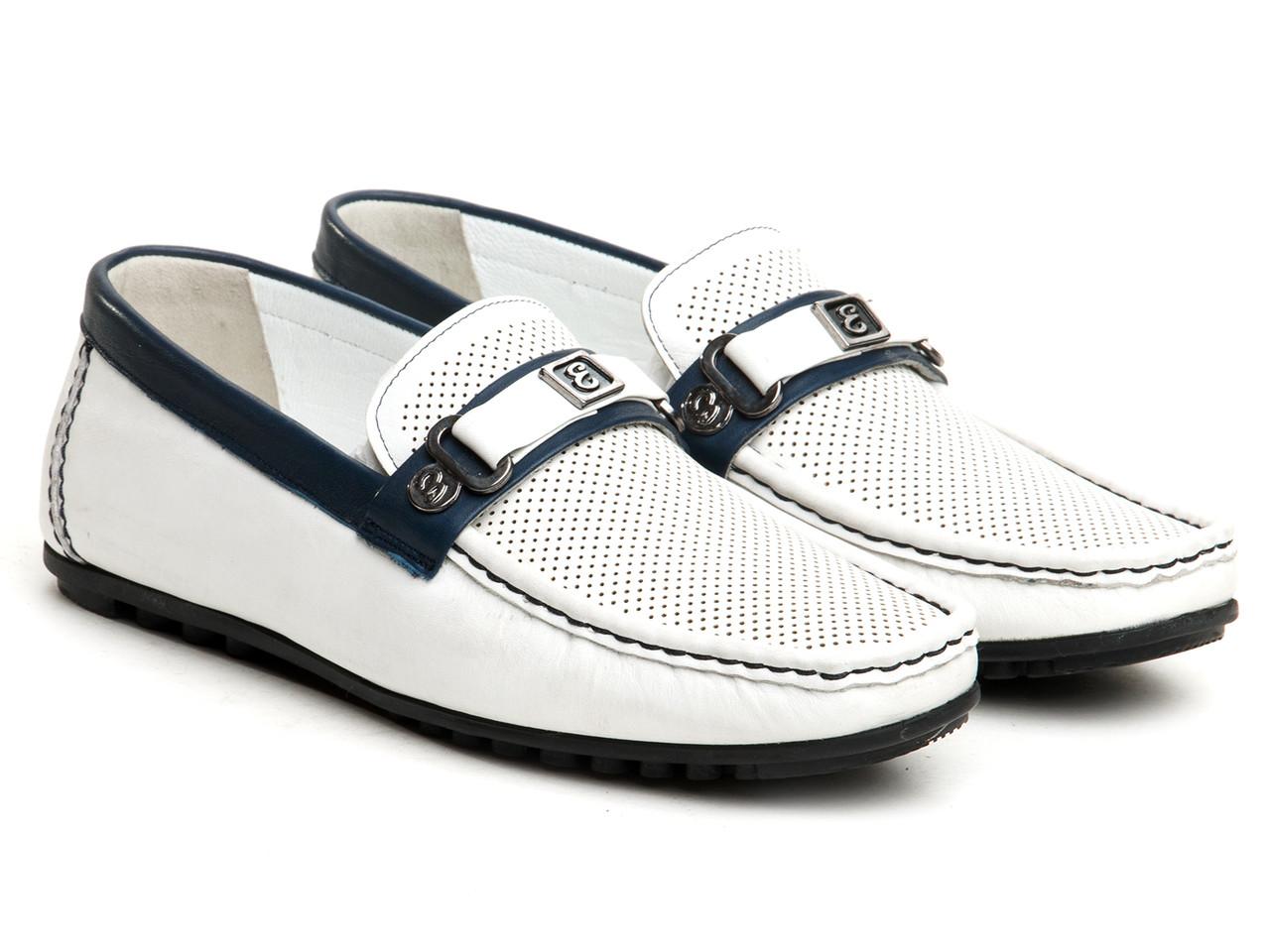 Мокасины Etor 11487-7108-169 белые