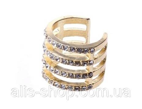Кольца в золотом цвете с камушками безразмерное