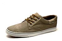 Мужские спортивные легкие туфли, текстиль, бежевые, фото 1