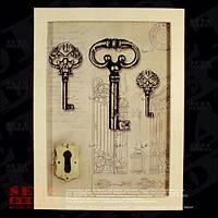 Ключница в стиле Прованс на 12 ключей