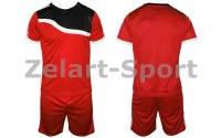 Форма футбольная без номера подростковая CO-4588-R (PL, р-р M-XL, красная, шорты красные)