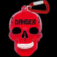 """Брелок для ключей в виде черепа """"Danger"""""""