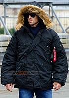 Мужская куртка аляска N-3B Parka Alpha Industries, США (черная)