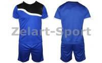 Форма футбольная без номера подростковая CO-4588-В (PL, р-р M-XL, синяя, шорты синие)