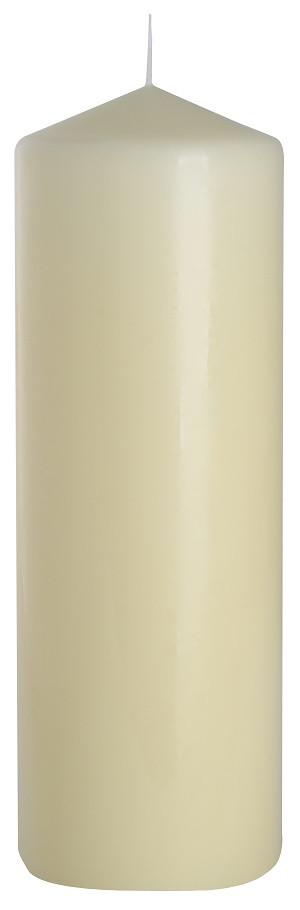 Свеча кремовая цилиндр 80х250мм