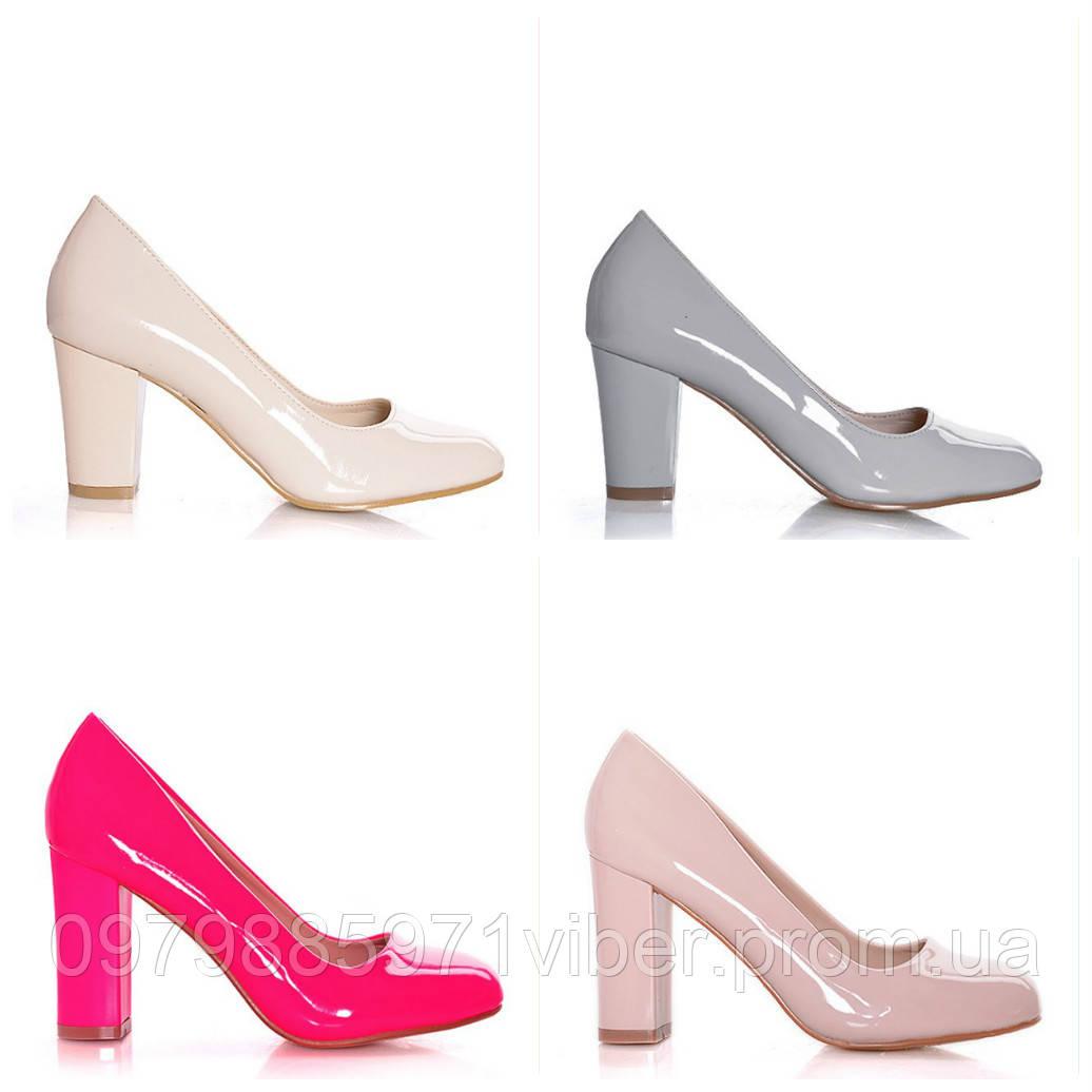 Туфли женские на толстом каблуке - Доставка товаров из Польши в Львове 71c4da6504555