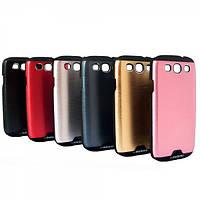 Бампер алюминиевый для Samsung Galaxy S3 i9300 - Motomo Shockproof Series (разные цвета)