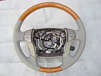 Обтяжка рулевого колеса кожей