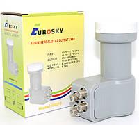 Универсальный конвертер с четырьмя независимыми выходами и линейной поляризацией EuroSky UQP5 QUADRO