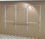 Стойка для одежды на стену 3-х секционная
