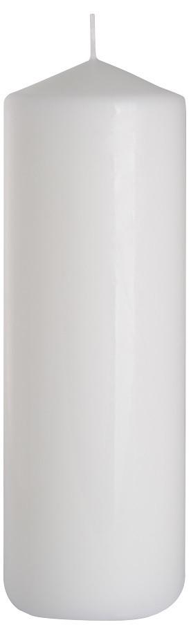 Свеча белая декоративная цилиндр 80х250мм