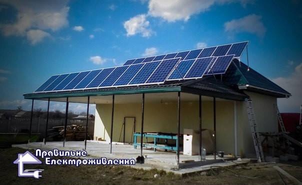 Мережева сонячна електростанція 10 кВт. ( с. Синяк, Вишгородський р-н. ) 1