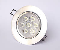 Точечный светодиодный врезной светильник  LED КВ007 7W, фото 1
