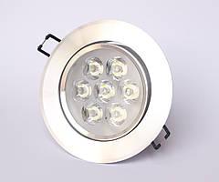 Точечный светодиодный врезной светильник  LED КВ007 7W