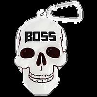 """Брелок для ключей в виде черепа с надписью """"Boss"""""""