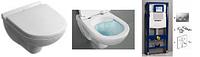 5660HR01 O.NOVO Direct Flush унитаз подвесной с крышкой s/c + Инсталяция GEBERIT 458.161.21.1