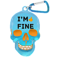 "Брелок для ключей в виде черепа ""I'm Fine"", фото 1"