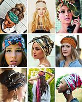 Как оригинально завязать шарф на голове