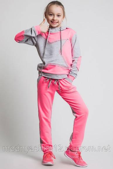 3baecd4ab08e8 Детский спортивный костюм для девочек, размер 122-128 см, двунитка -  Интернет-