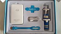 Подарочный набор power bank, монопод палка для селфи, USB фонарик , фото 1