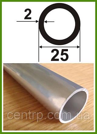 25*2. Алюминиевая труба круглая. Без покрытия. Длина 3,0м.