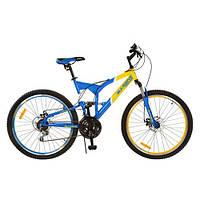 Cпортивный велосипед 26 дюймов Profi G26S226-UKR желто-голубой