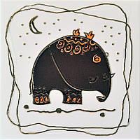Плитка Атем Орли настенная декор Atem Orly Elephant M 200x200 мм