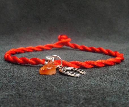 Красная нить. Оберег. Сердолик, фото 2