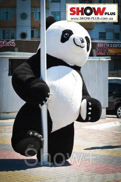 Надувной костюм Панда, пневморобот на прокат