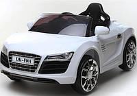 Детский Электромобиль Audi R8 KD100 белая на аммортизаторах и радиоуправлении, открываются дверцы
