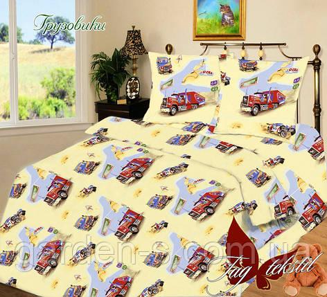 Комплект постельного белья Грузовики ТМ TAG 1,5 спальный комплект, фото 2