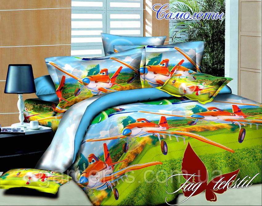 Комплект постельного белья Самолеты ТМ TAG 1,5 спальный комплект