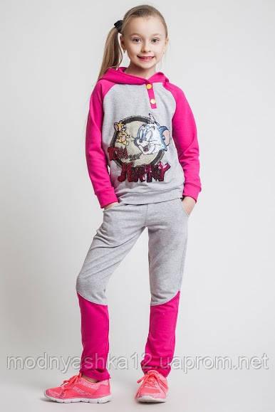 """Детский,подростковый спортивный костюм для девочек, трикотажный, размер 122-128-134-140-146-152 см, двунитка - Интернет-магазин """" Модняшка"""" в Одессе"""