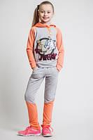 Детский,подростковый спортивный костюм для девочек, трикотажный, размер 122-128-134-140-146-152 см, двунитка