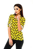 Рубашка женская с узором - Желтый