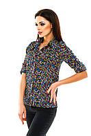 Рубашка женская с принтом Цветные ключики - Темно синий