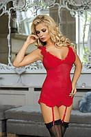 Красный корсет Excellent Beauty Vivian V-526