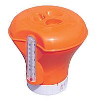Плавающий дозатор Bestway с термометром оранжевый