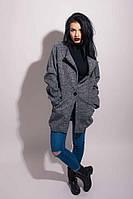 Крутое пальто на одной пуговице свободного кроя