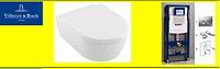 5656HR01 AVENTO Direct Flush унитаз подвесной с крышкой s/с  + Инсталяция GEBERIT 458.161.21.1