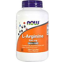 Аргинин для работы сердца, Now Foods, 500 мг, 250 капсул