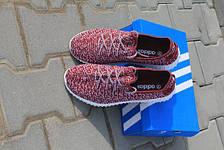 Adidas Yeezy Boost красные,плотная сетка, фото 2