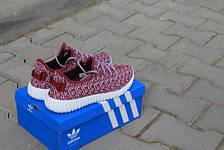 Adidas Yeezy Boost красные,плотная сетка, фото 3