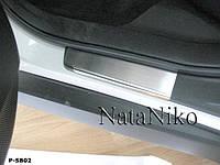 Накладки на пороги Premium Subaru Forester III 2008-